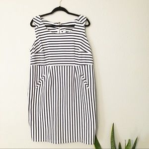Navy blue and white stripe old navy dress